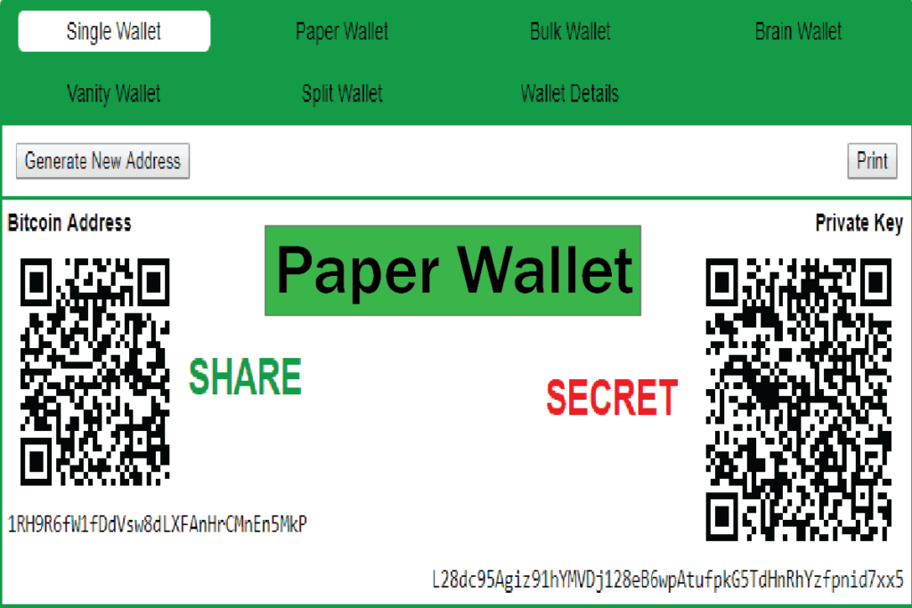 make paper wallet cryptocurrency