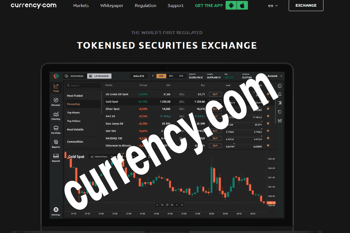 Launching to the Public of Tokenized Security Exchange Currency.com