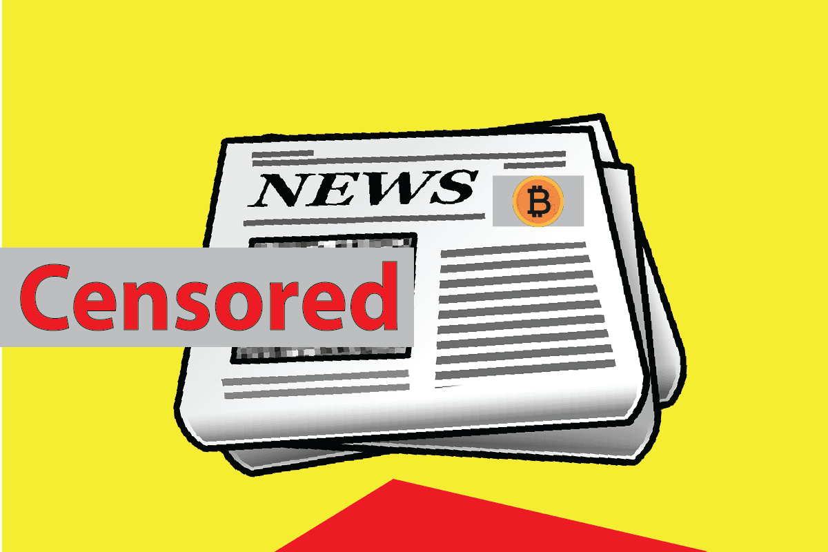 Censorship of News could be Stopped by Bitcoin