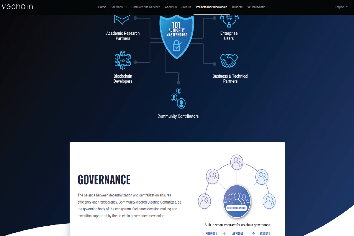 Decentralization Governance Model for the VeChainThor